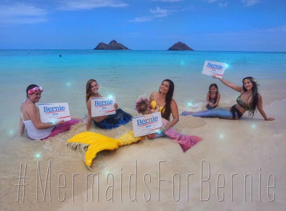 Did mermaid vote make the difference? #HIcaucus #mermaidsforbernie @BernieSanders #Hawaii https://t.co/l8enN6jxxZ