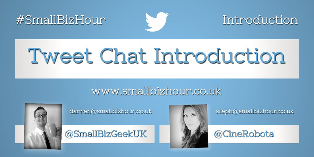 A 30 min audio introduction to #tweetchats & #SmallBizHour w/ @SmallBizGeekUK & @CineRobota https://t.co/kyA70XUYZs https://t.co/M8YXuaoGJJ
