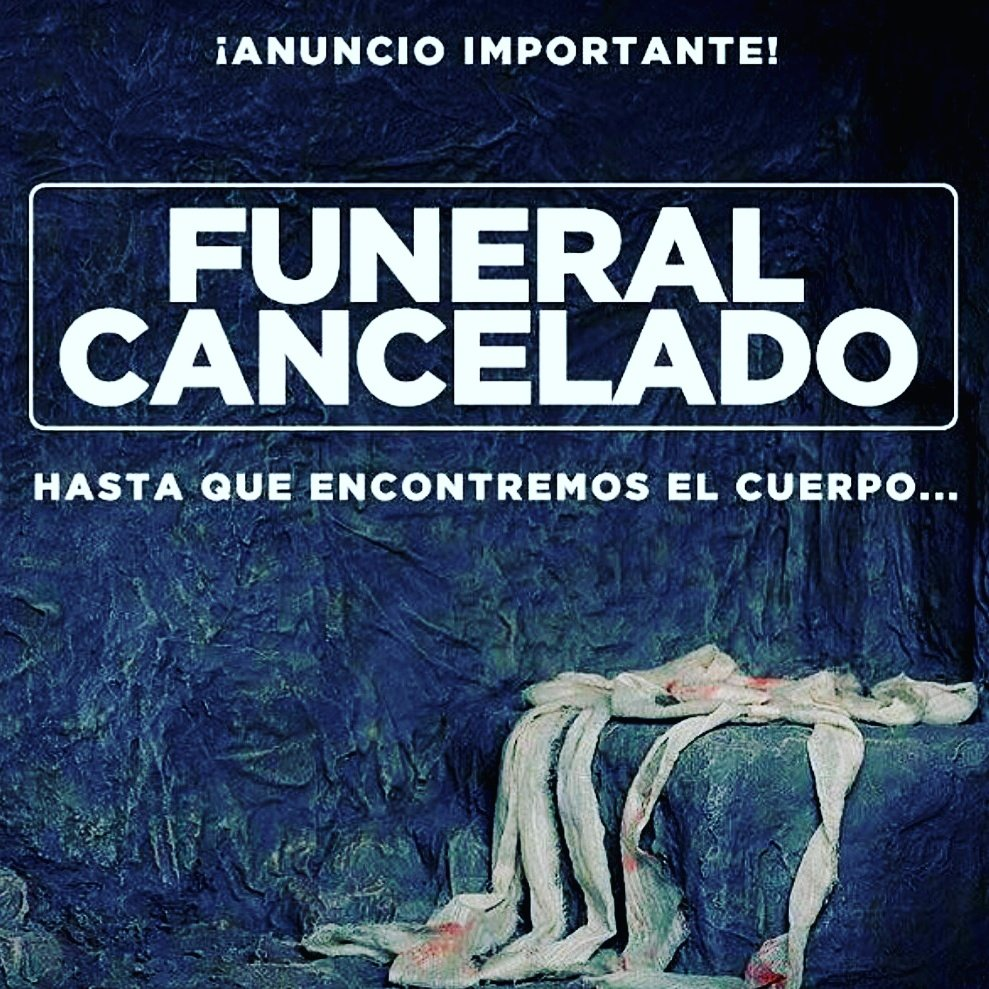 Resultado de imagen de FUNERAL CANCELADO