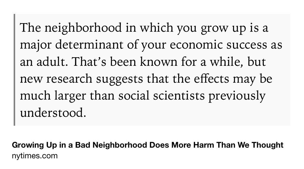Growing Up In A Bad Neighborhood Does More Harm Than We >> Justin Wolfers On Twitter Growing Up In A Bad Neighborhood