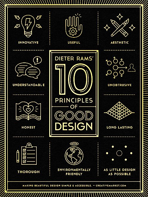 Dieter Rams 10 Principles of Good Design, should be the guiding light, for any aspiring Design Student https://t.co/5AAJCMHOw4