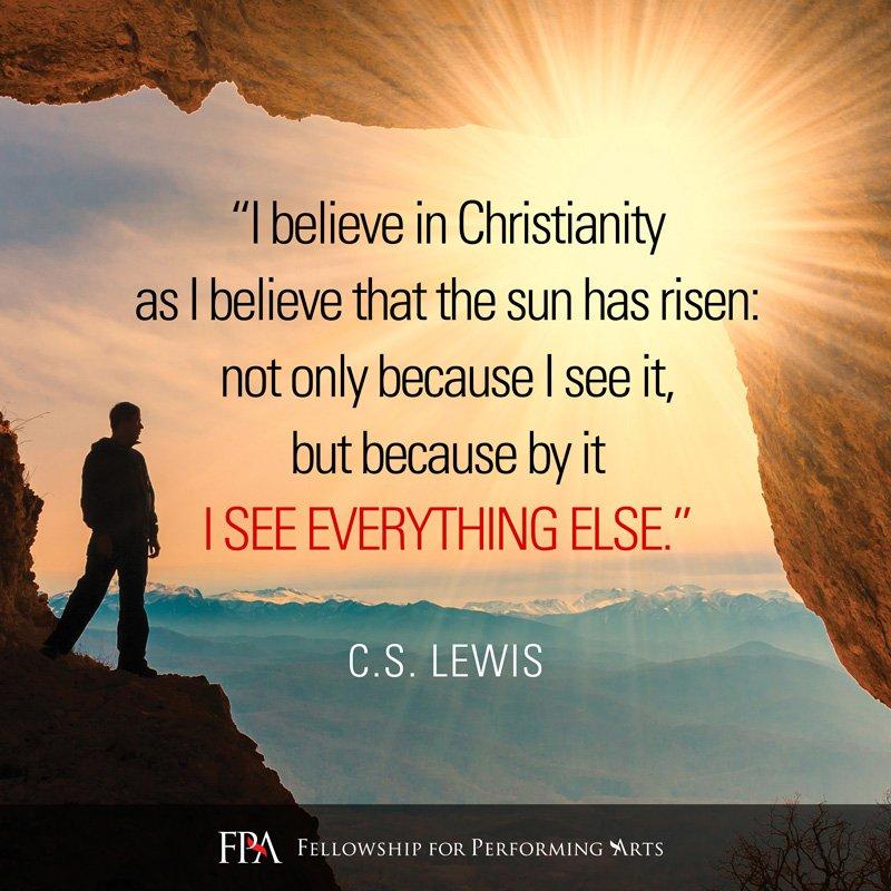 Cs lewis i believe in the sun