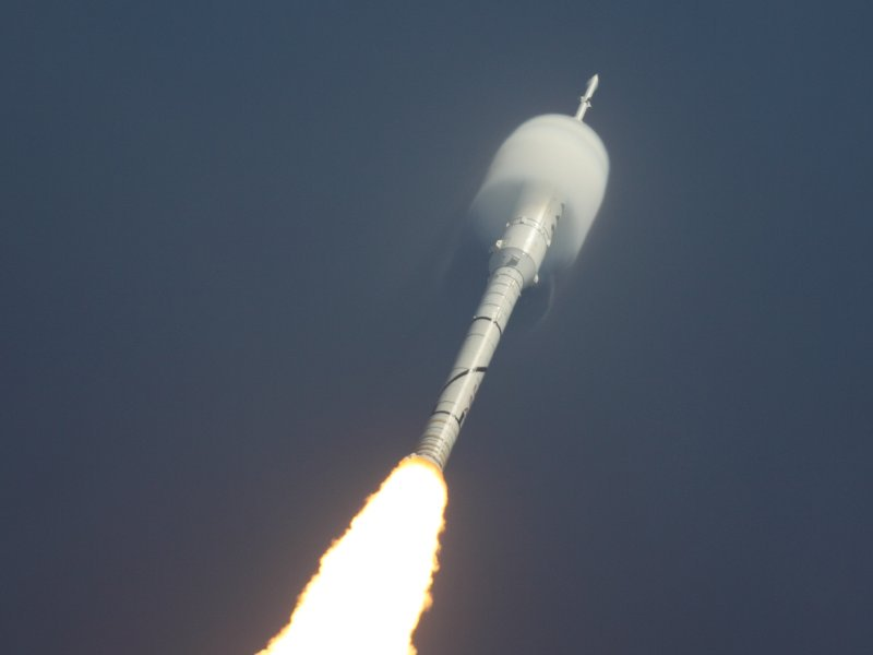 """In celebration of Easter, I present a beautiful photo of the """"shock egg"""" created by an Ares Rocket. https://t.co/YjoQ1CDQVg"""