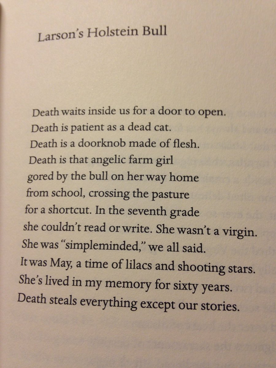 Well, damn. Jim Harrison has died. Here, read this poem he wrote. https://t.co/sUfXLmt8lR