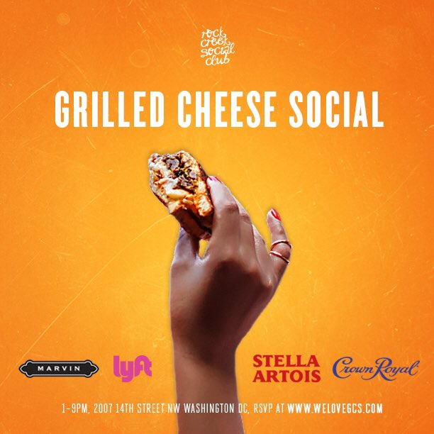 04/09 #GrilledCheeseSocialDC is back at @marvin_dc - RSVP at https://t.co/QlKzRM96IT #rockcreeksocial https://t.co/QqtvO1FZ6t