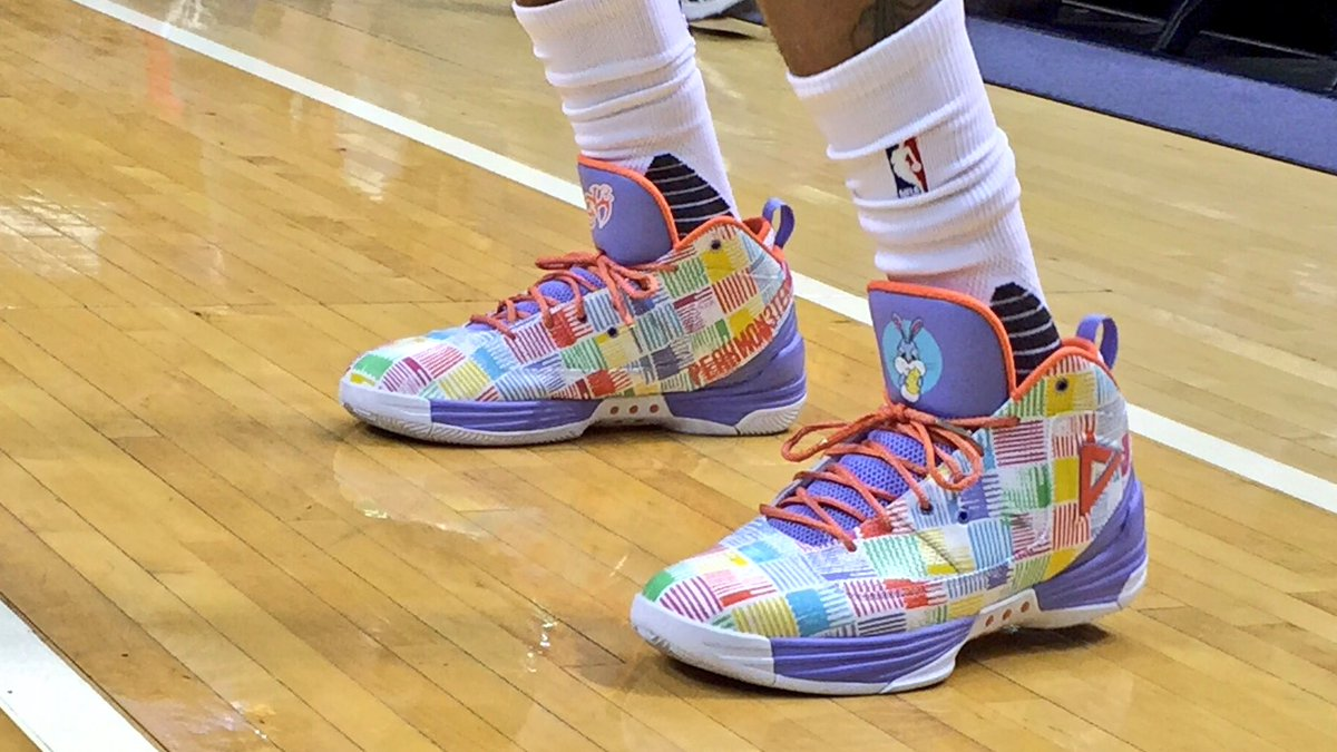 Pacers wear Easter-themed sneakers for pregame warmups (Photo)
