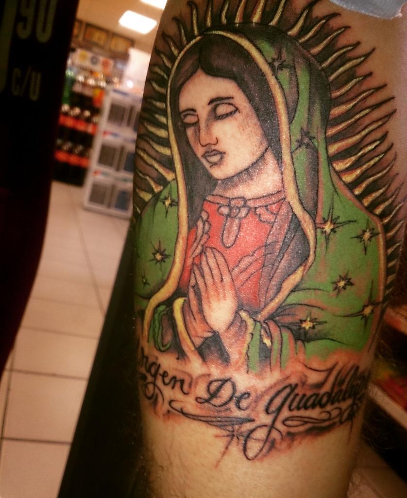 July Los Turros On Twitter Nuevo Tatuaje La Virgen D Guadalupe En