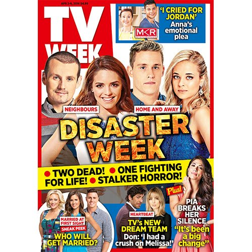 DISASTER WEEK! Who will die? Grab a copy of TV WEEK for all the gripping details - on sale now!