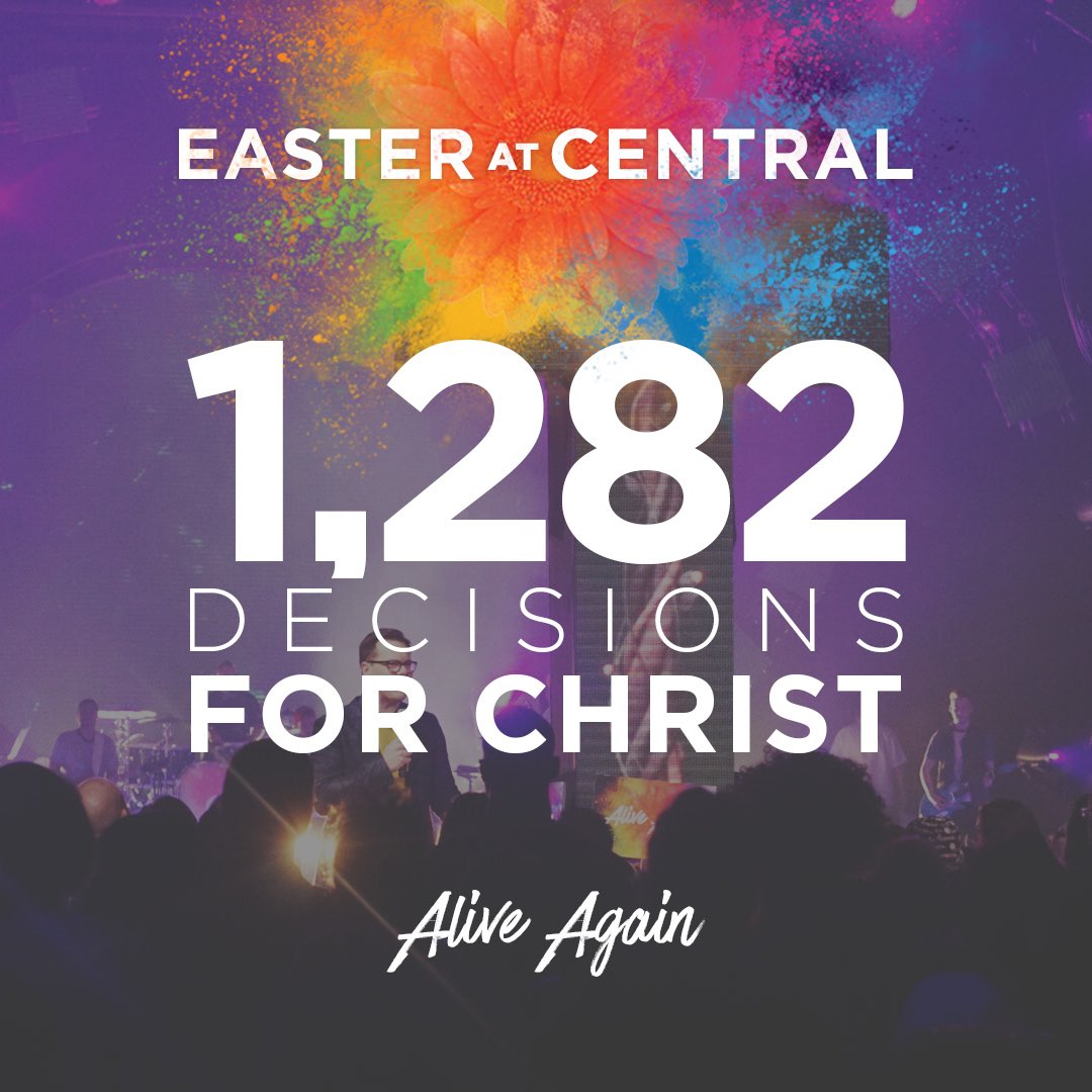 THIS is what it's all about. We're celebrating with the 1,282 people who made the decision to follow Jesus! https://t.co/p7njOqIAIe
