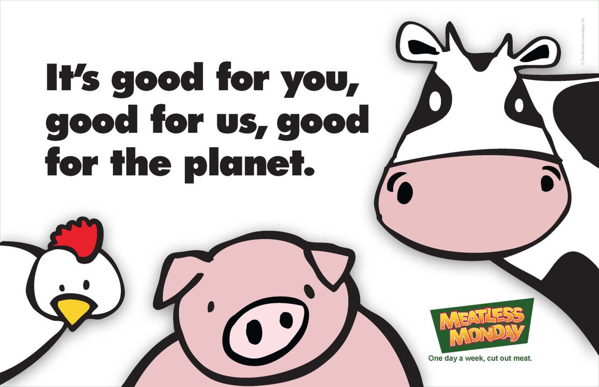 Retweet if you're ready to kick off the week with a #MeatlessMonday for your #health & the health of the planet! https://t.co/sAZXeUjbOq