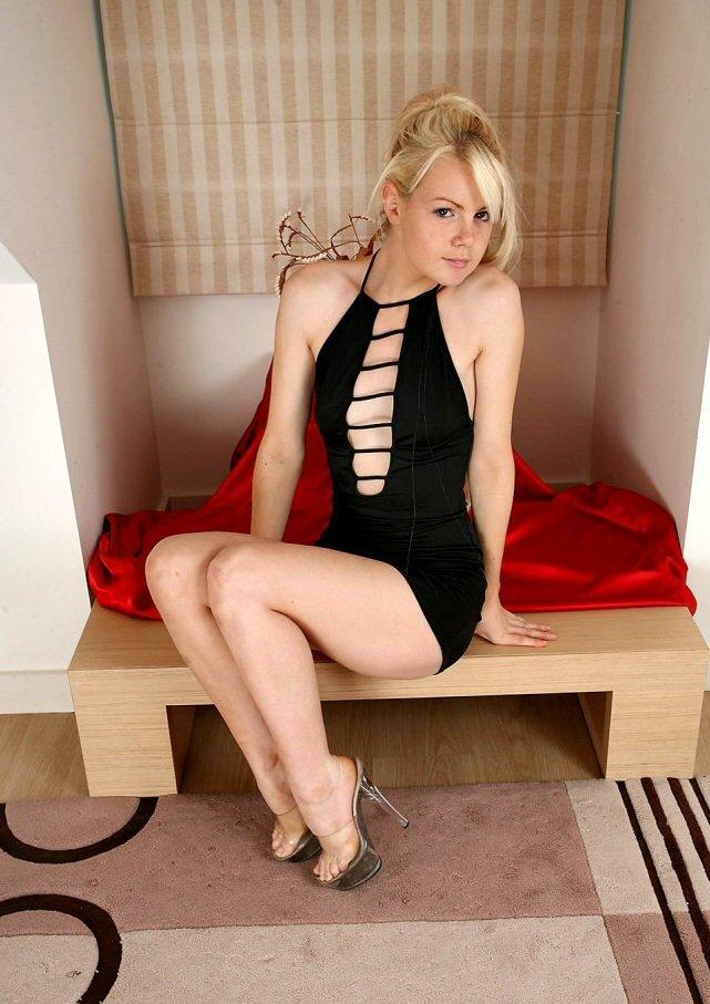 sexy blonde in high heels