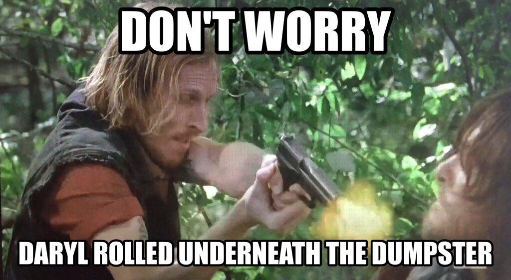 I'm sure Daryl's just fine... #TheWalkingDead https://t.co/7W0yObb7KX