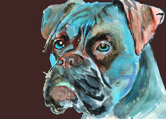 Oscar Jetson Artist On Twitter Boxer Dog Canvas Art Print