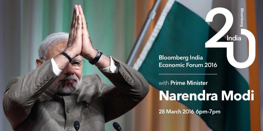 Tune in LIVE now: PM @narendramodi speaks at Bloomberg India Economic Forum https://t.co/hOS6v3UcXd #ModiatBloomberg https://t.co/DrIEOPA6bu