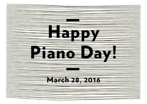 3/28はNils Frahmが提唱する「Piano Day」です。ピアノの鍵盤数にちなんで1年の88日目にピアノを祝福する日。彼の未発表EP「solo—remains」がフリーDL! https://t.co/0F4QJl7N4s https://t.co/8iTLHeeJQ9