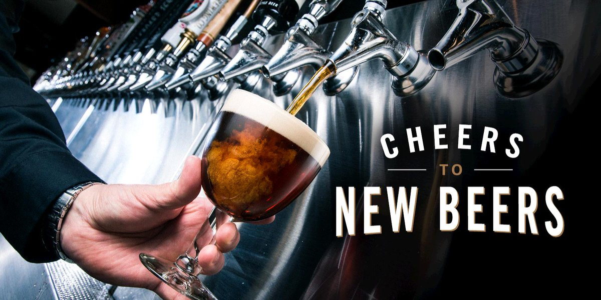 NEW beers are here – enjoy over 20 new craft, local & import beers today! #CheersToNewBeers https://t.co/Ye4r5Nrgoh https://t.co/qMBFJjLQ4Z