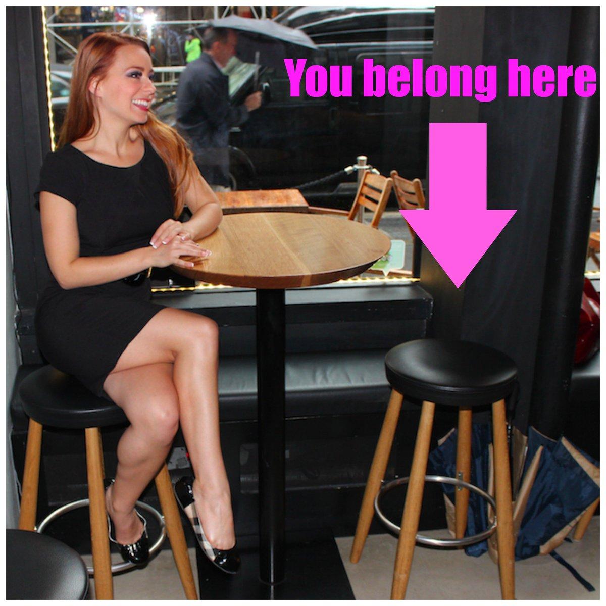 footsie under table