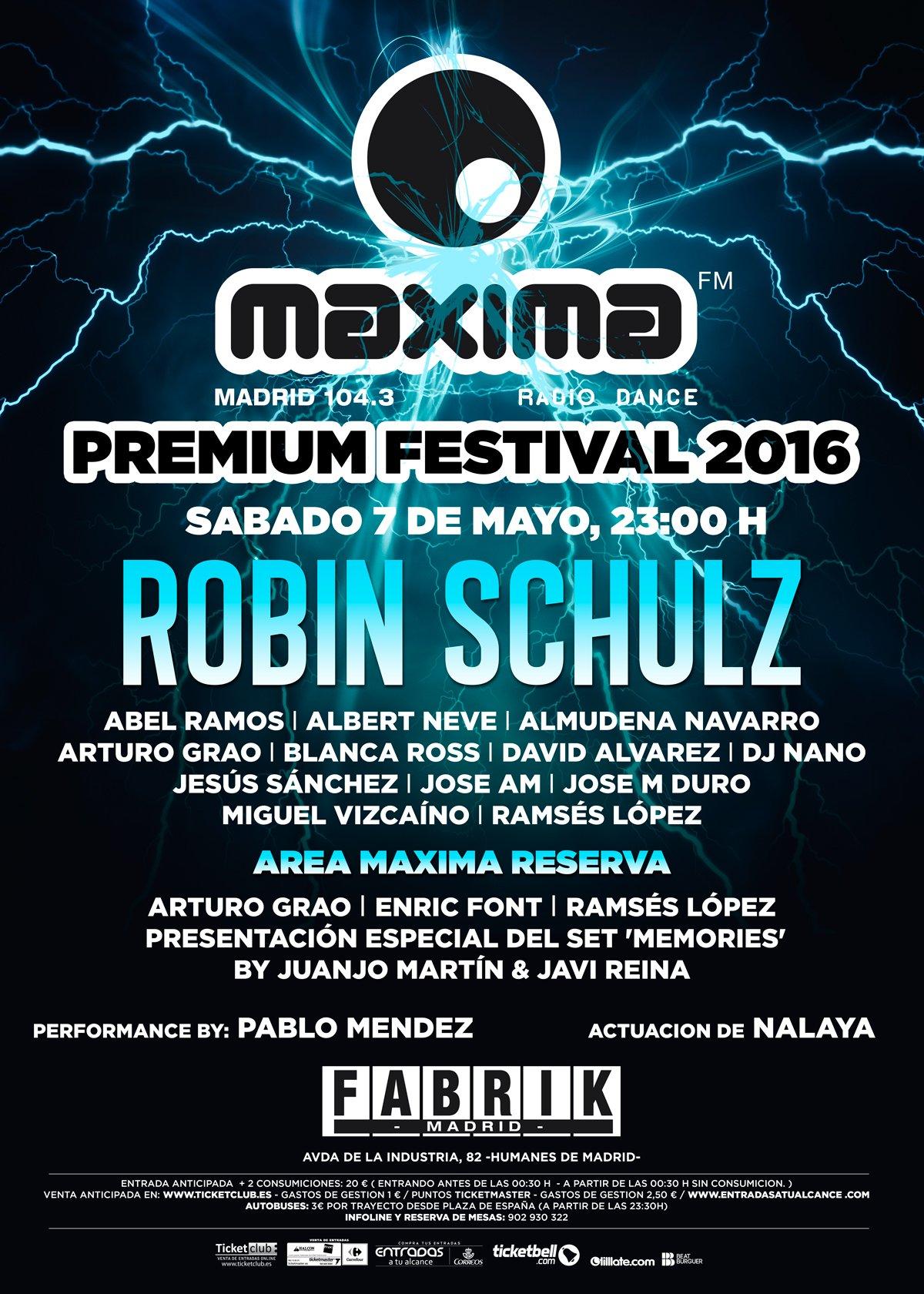 Cep86wZW4AEGPe1 Robin Schulz en el Máxima Premium Festival 2016
