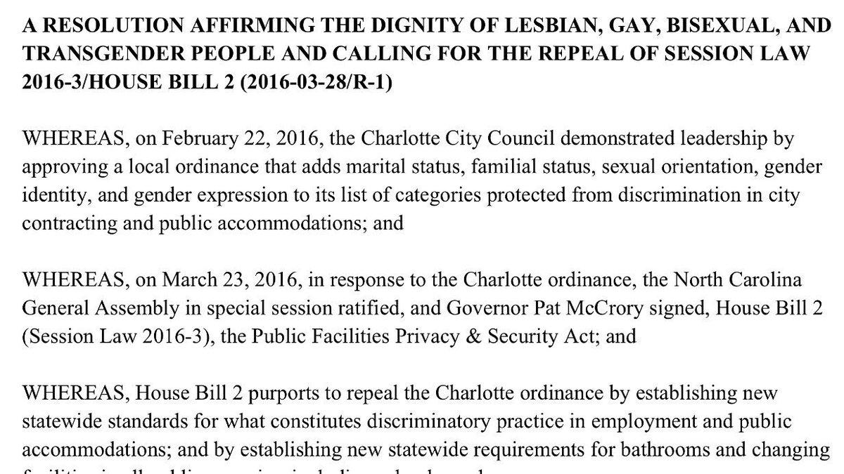 "Town of Chapel Hill passes resolution against HB2 ""restroom"" bill. #HB2 #WRAL @chapelhillgov https://t.co/GxHrGTDOVi"
