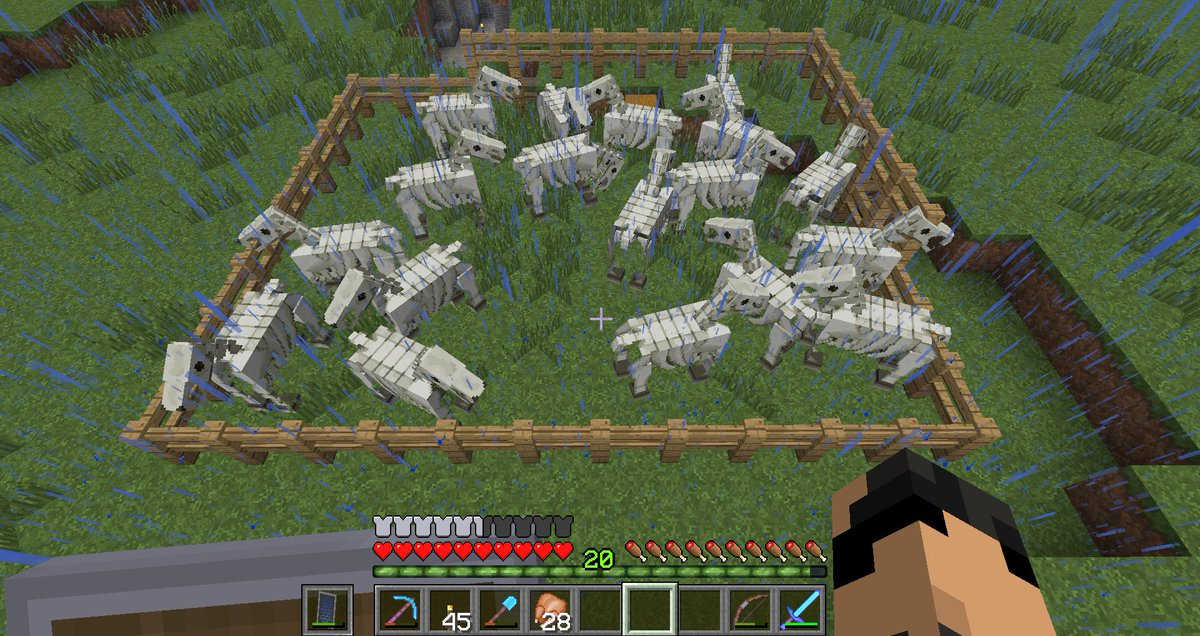 Minecraft Creations On Twitter When Lightning Strikes To A Minecraft Horse Farm Picture By Luxikeks Https T Co Zdkk0uuc5j
