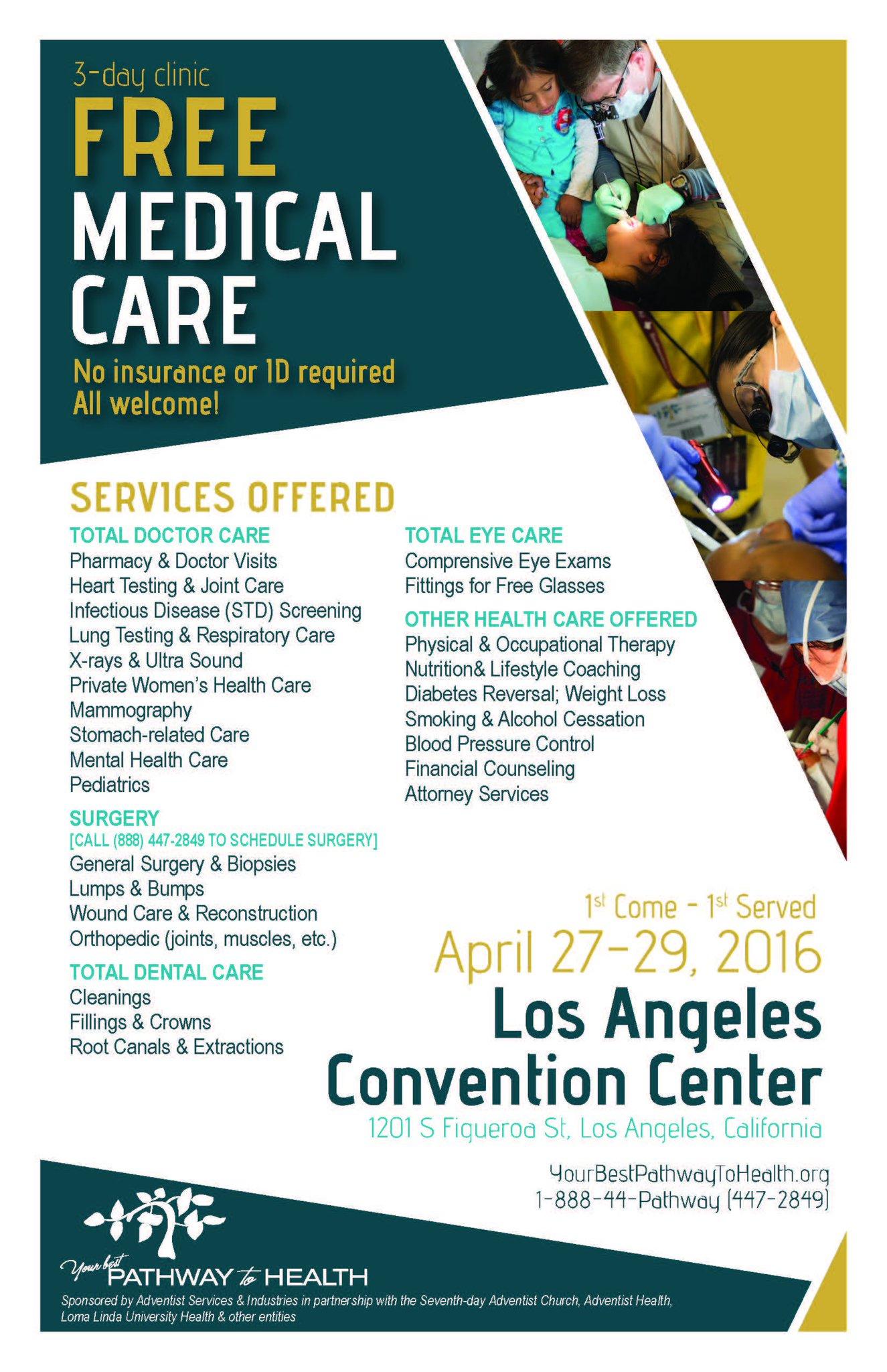 La Convention Center On Twitter La Residents A Free Mega Medical