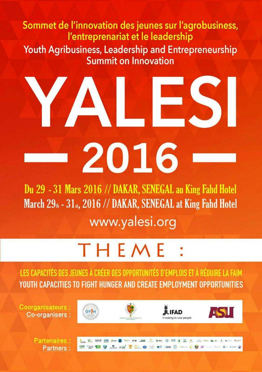 Thumbnail for Yalesi2016 – Youth Agribusiness,Leadership, and Entrepreneurship Summit on Innovation