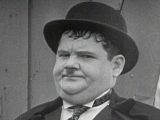 Image result for oliver hardy camera look