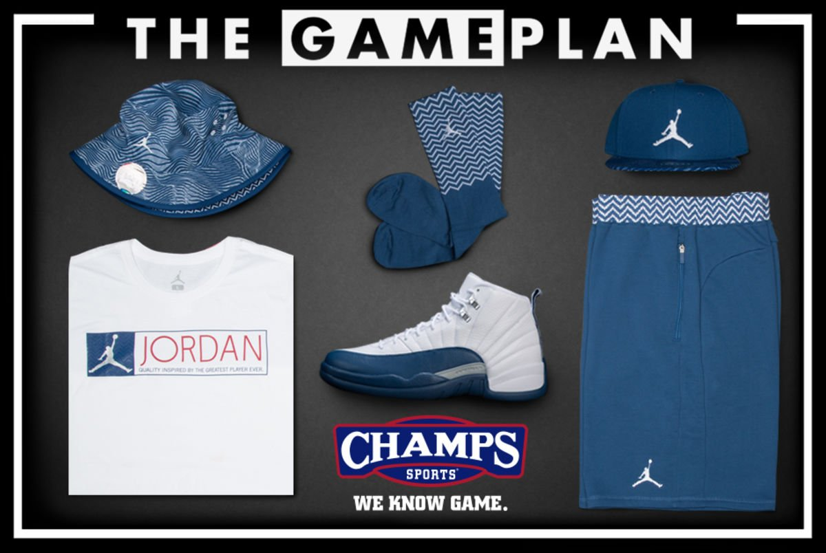 be459aff78f04f thegameplan from champssports presents the air jordan 12 french blue  collection
