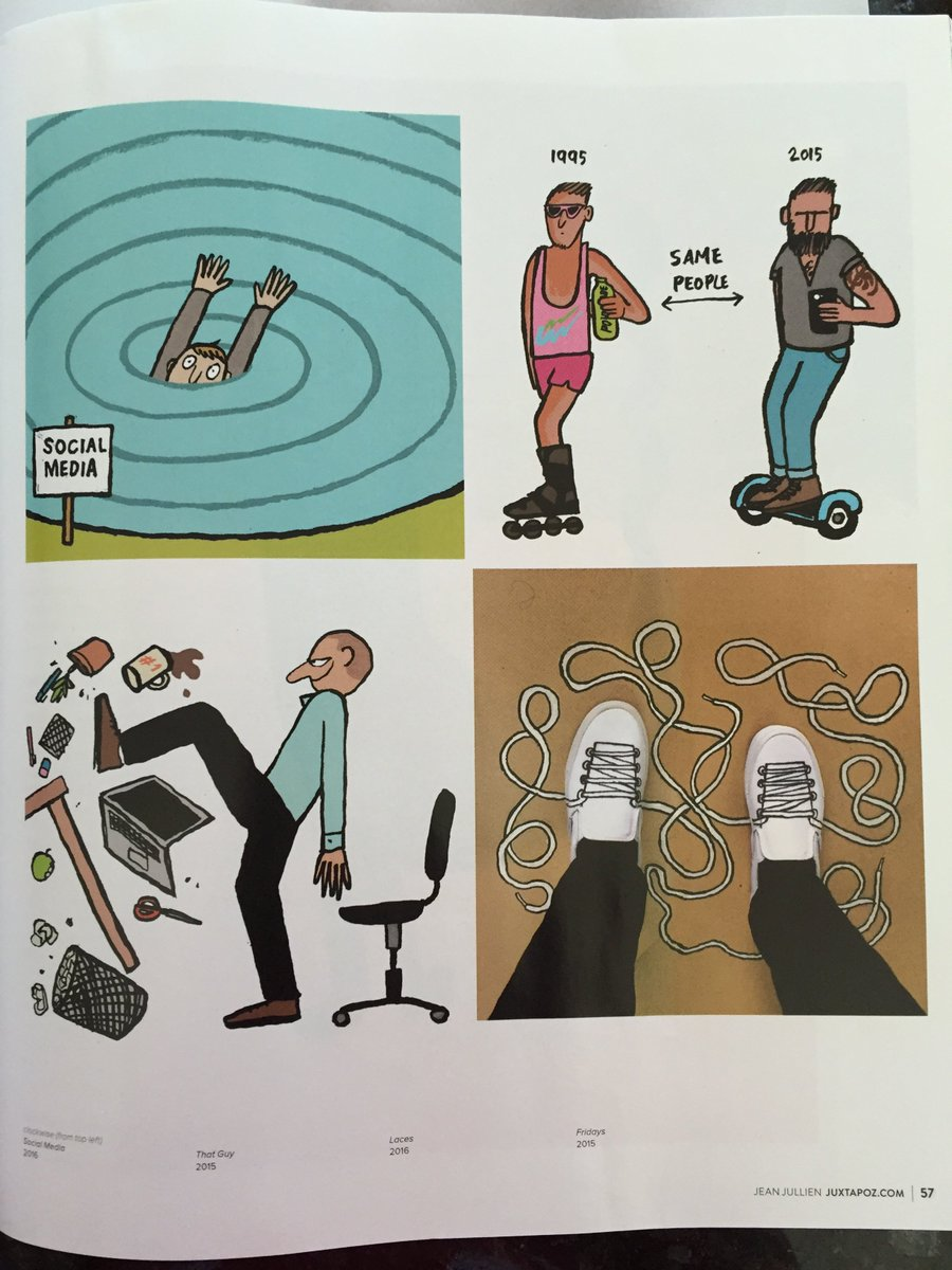 Have you seen @jean_jullien's other work?  Great profile in the April @JuxtapozMag! https://t.co/8oyzJlNulr