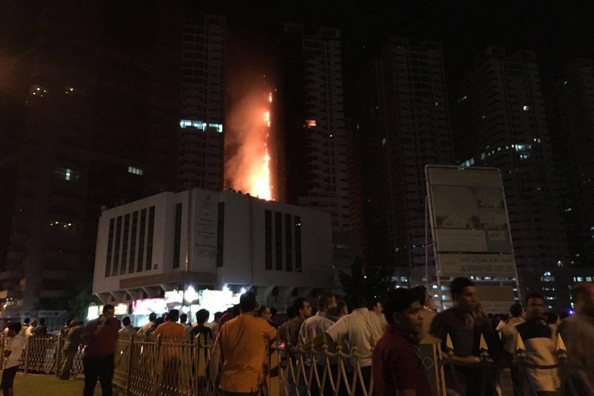 Incendio a Dubai, immagini video virali su Twitter