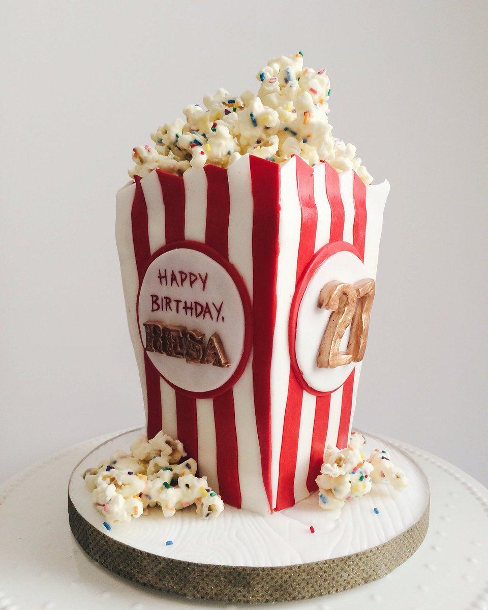 Nutmeg Cake Design On Twitter Happy Birthday To Popcorn Lover