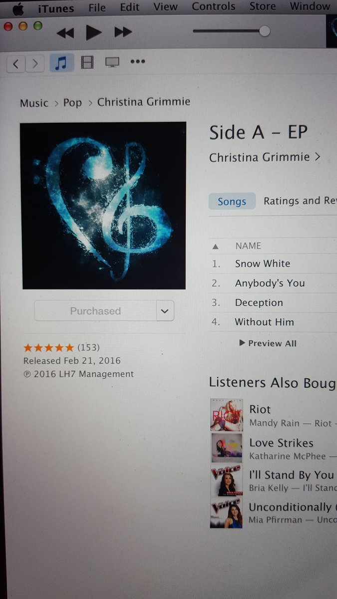 Just bought @TheRealGrimmie 's new EP! Check it out yall. It's FANTASTIMAZING!