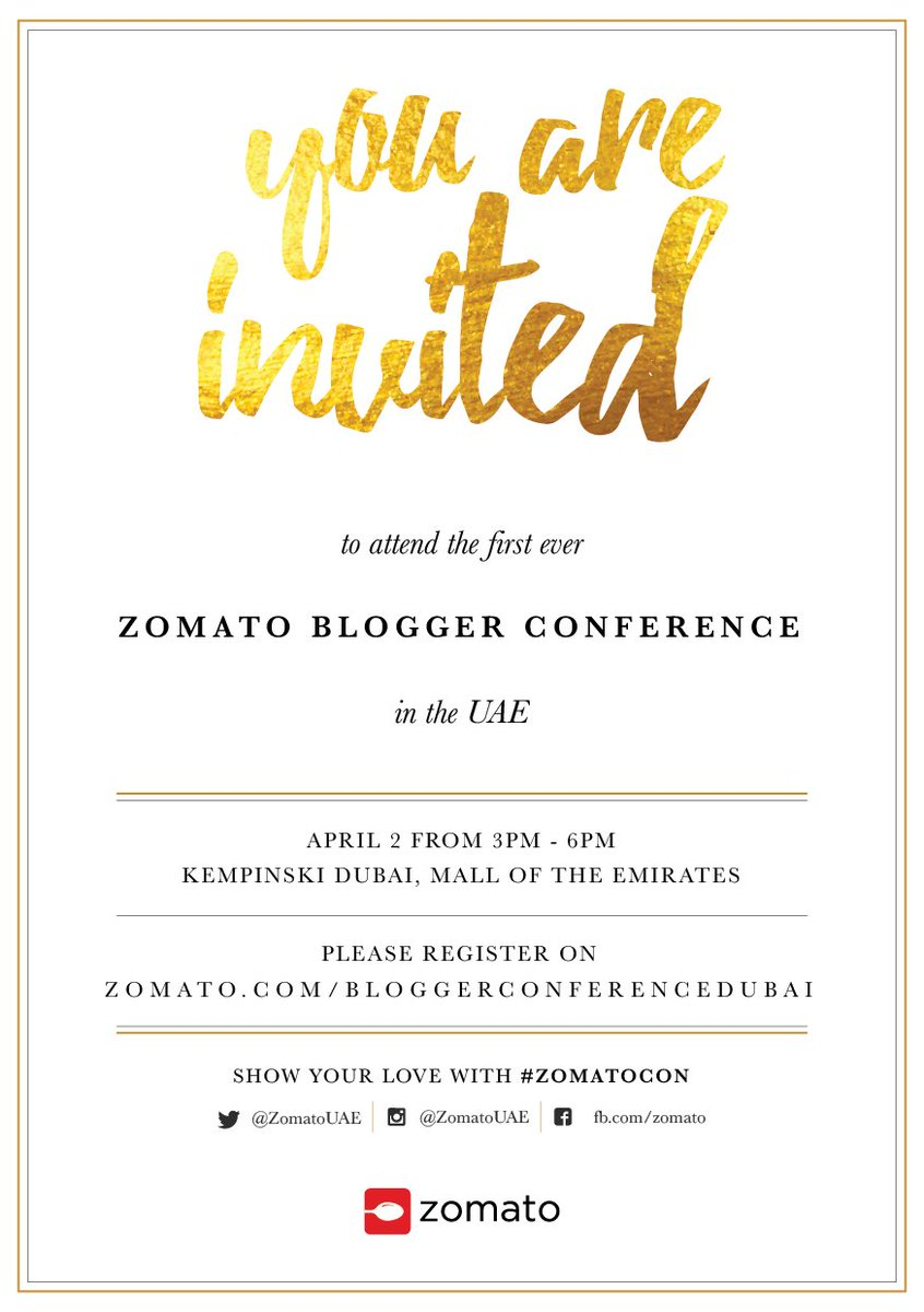 Lydia foott lydiafoott twitter calling out to all uaebloggers to register for the first zomatocon this saturday httpzomatobloggerconferencedubai picitter3ksoocvsvm stopboris Image collections