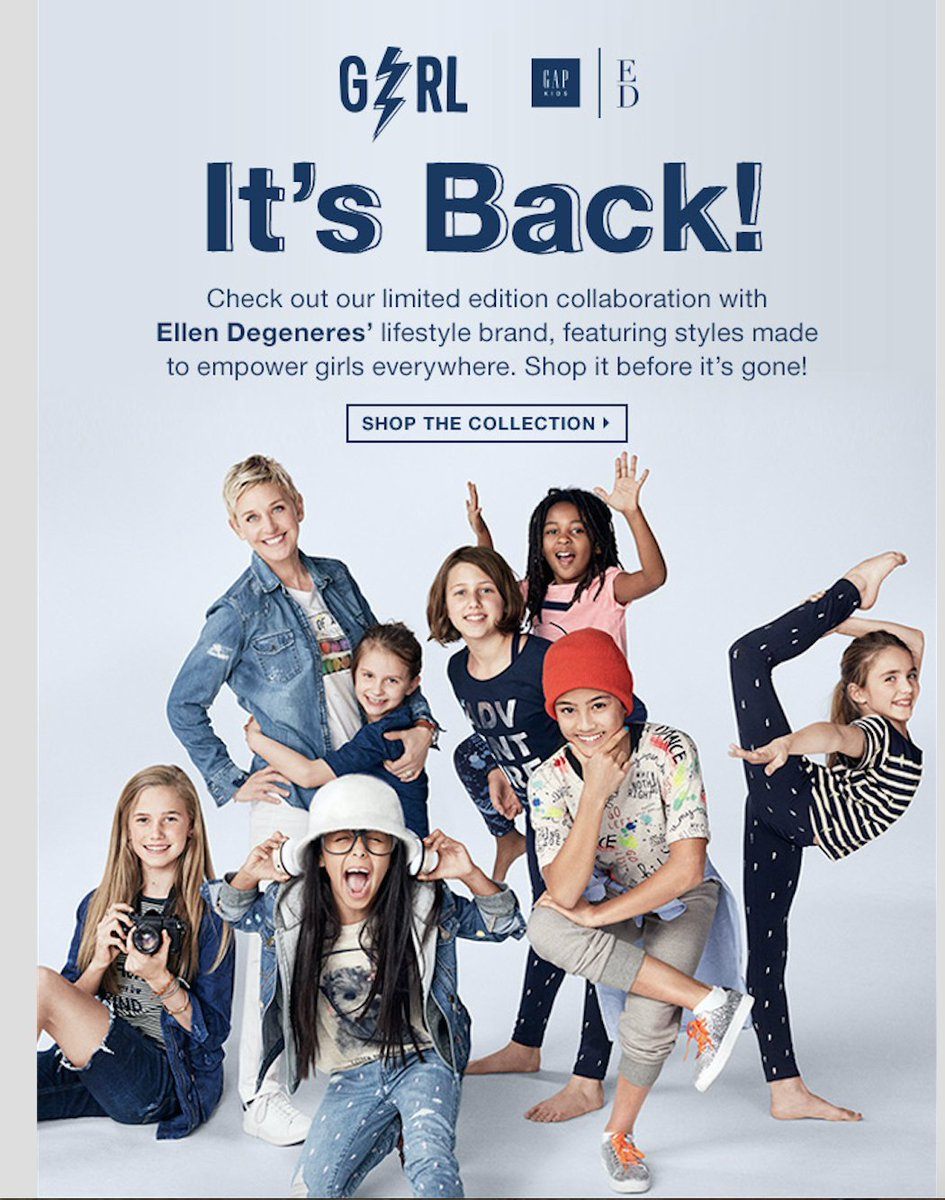 Brooke Smith On Twitter Gap New Gap X Ellen Degeneres Girl