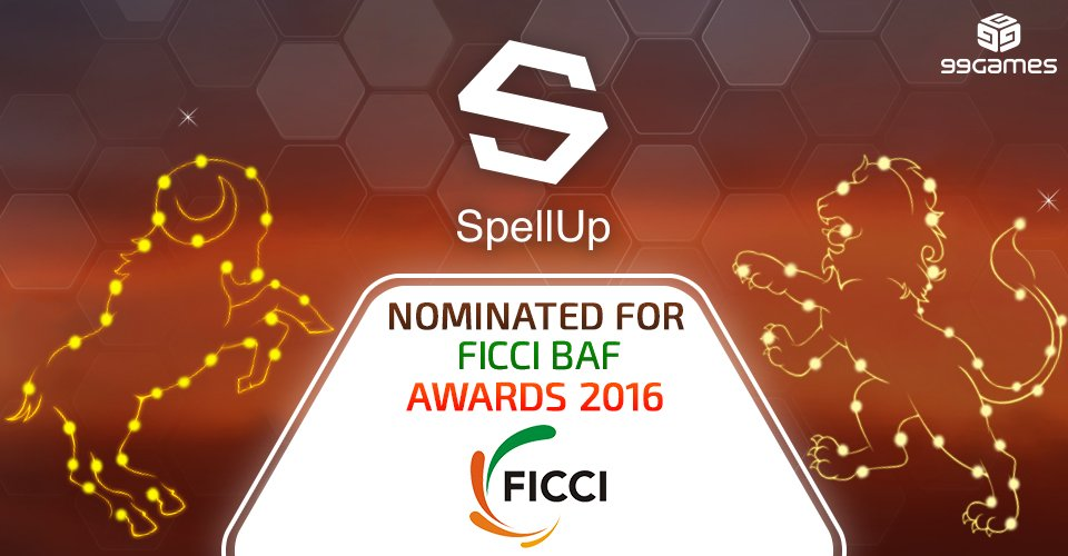 Excited to see @playspellup Nominated for FICCI BAF AWARDS 2016 in Mobile and Tablet Game Category @ficci_india https://t.co/C6btMokfLu