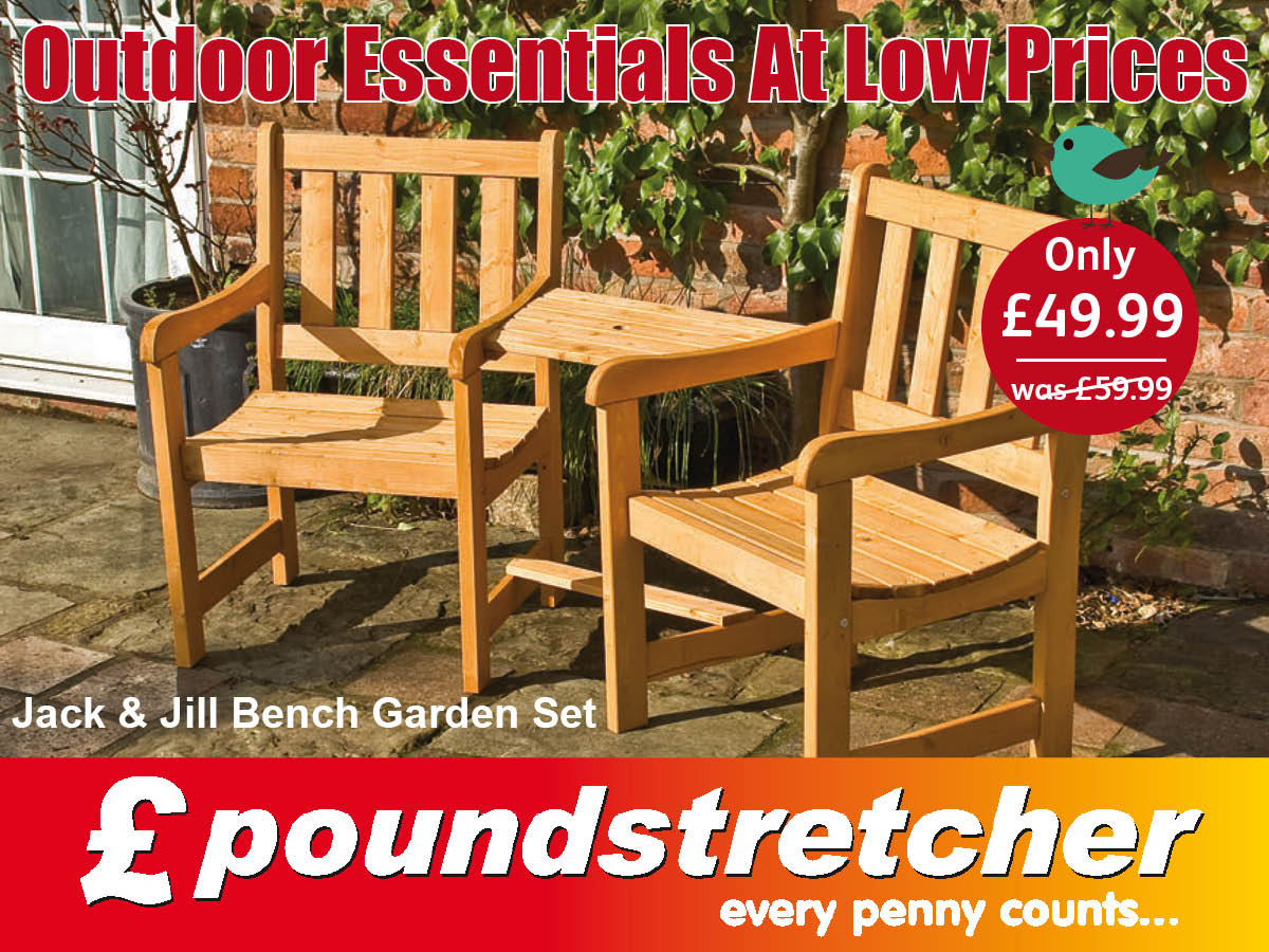 Poundstretcher on Twitter   Enjoy half term outdoors with our Jack   Jill  bench  Available now  https   t co 97xzMOd5KU. Poundstretcher on Twitter   Enjoy half term outdoors with our Jack