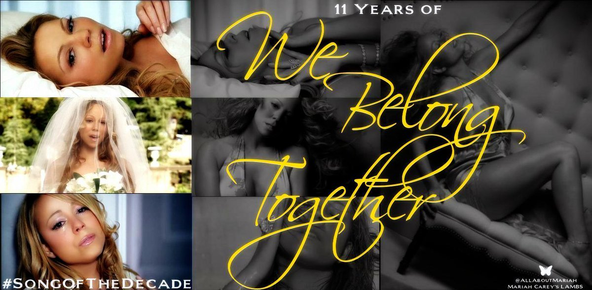 """""""We Belong Together"""" was released on March 29, 2005. @MariahCarey #11YearsOfWeBelongTogether #SongOfTheDecade https://t.co/6nRfw3ebVu"""