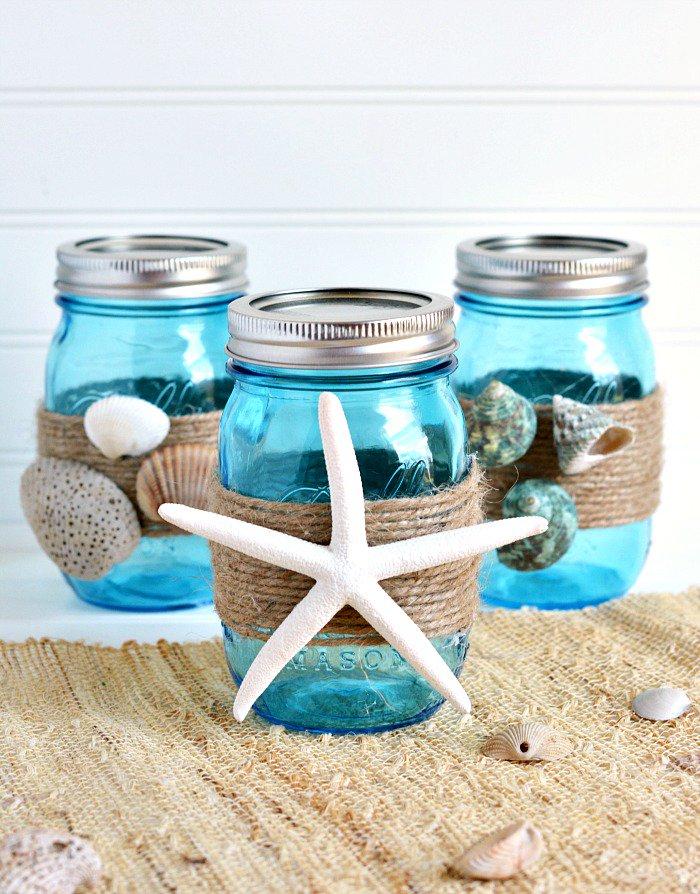 Cdavis On Twitter Diy Beach Themed Bathroom Mason Jar Storage Set Craft Ballcanning Https T Co 4ncuux0cpf Ctziav8hjj