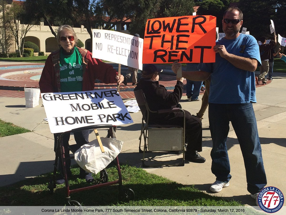 Mobile Home Owners Stage Rally Mhphoa News 2016 03Corona Sierra Corporate Management Employees Support Residentspictwitter