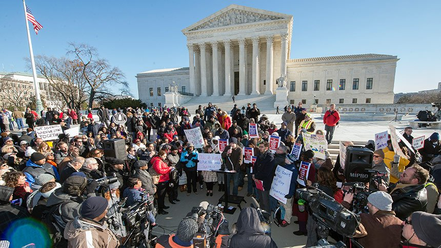 Thumbnail for Split Supreme Court Ruling in Friedrichs v CTA a Win for Unions
