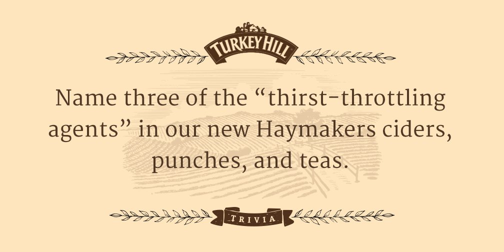 Can anyone answer this trivia question? Answer by 5 to #win some FREE Haymakers drinks. #THTrivia https://t.co/V2yVa84xb6