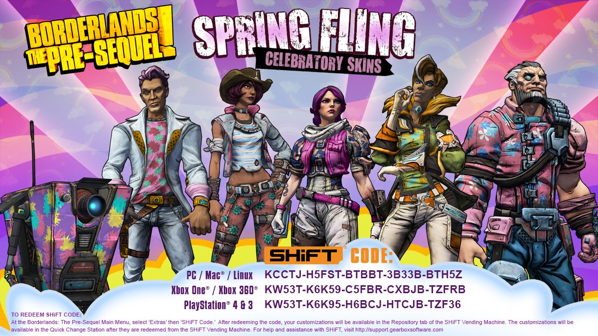 Borderlands The Pre Sequel Shift Codes For Golden Keys Archive Page 3 Playstationtrophies Org