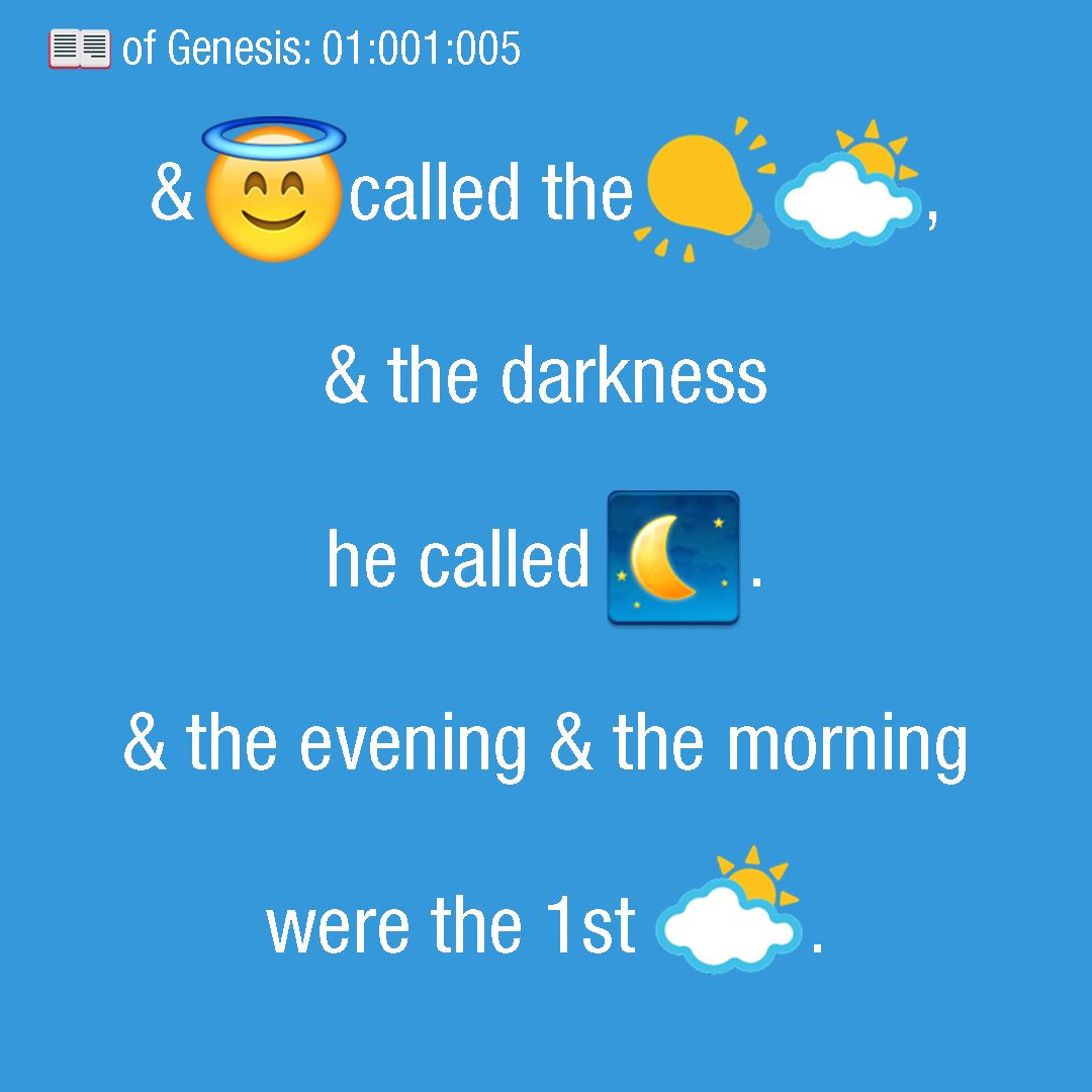 The Emoji Bible has arrived     sometime after God created heaven