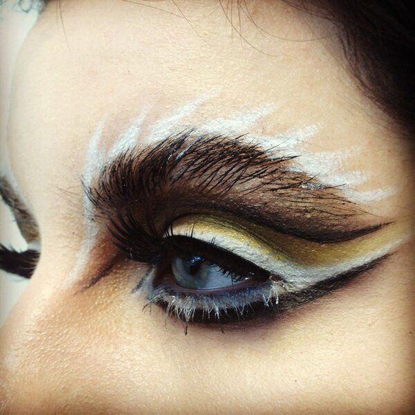 Image result for owl inspired eye makeup