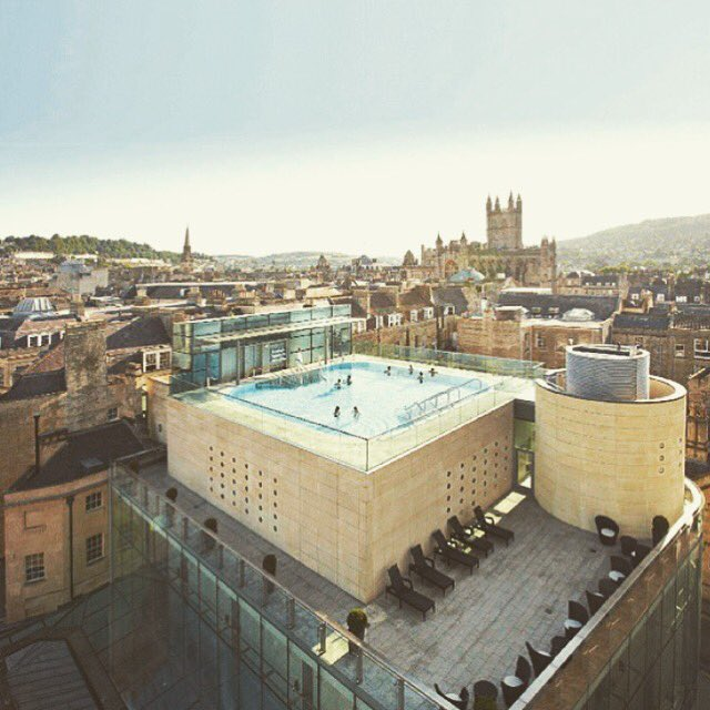 Just had the pleasure of spending the evening here.Thank u @thermaebathspa - rooftop bathing at sunset, what a treat https://t.co/beKsZAbFsr