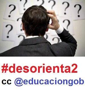 Preguntemos a @educaciongob sobre incertidumbres por desarrollo normativo #LOMCE aún pendiente.Seguimos #desorienta2 https://t.co/BObQRlUba6