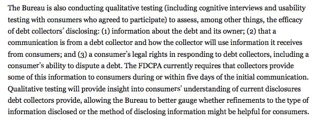 Interesting -- @CFPB does its own user research on disclosure. In house? if not, who does it? 11/ https://t.co/a4XOaUIaDK