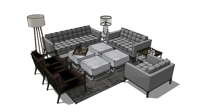 3d Warehouse On Twitter Living Room Furniture By Benetodog