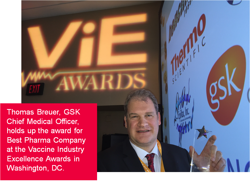 """Honored to win """"Best Pharma Company"""" at the Vaccine Industry Excellence (ViE) Awards! Thanks @vaccinenation! #WVCUSA https://t.co/zmBQ6lJCgL"""