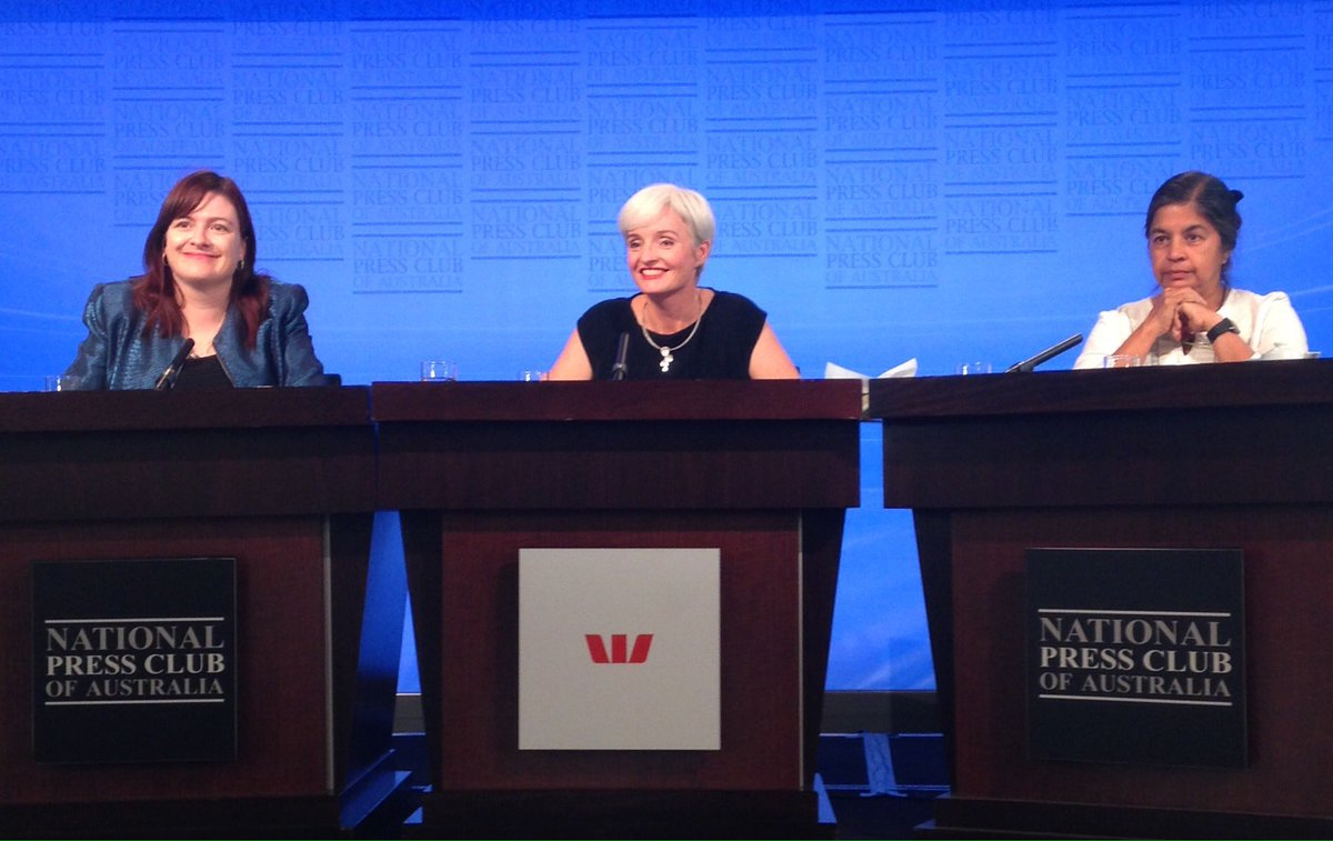 Professors Tanya, Emma and Nalini at the #NPC for the Women of Sciense Address on 'The Future of Science: Women'. https://t.co/NbYUB5UeQ4